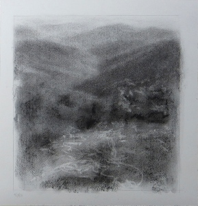 the a.t. near baggs creek gap lisa pecore charcoal, matted size 15x16 $50