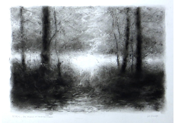 the meadow at bear den creek lisa pecore charcoal sold
